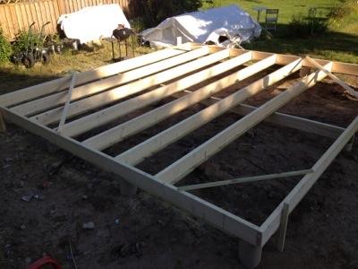 Bygga bjälklag på plintar