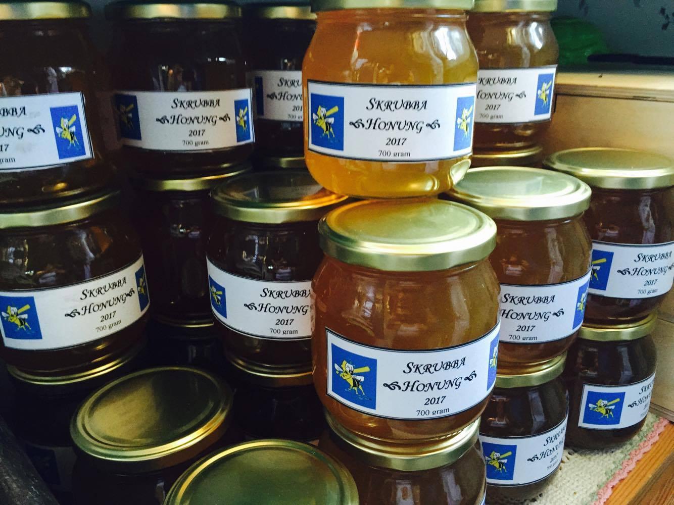 Skrubba honung till försäljning!