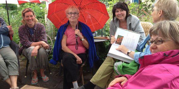Odlarglädje, lyser om deltagarna i söndagens besök i två trädgårdar.