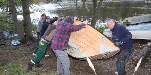 Bilder från båtklubben 16 maj 2020
