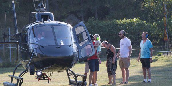 Bilder från helikoptertur 28 juli 2019